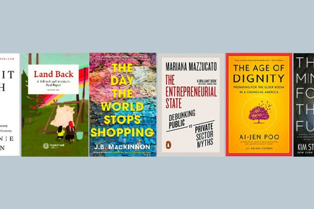 Front covers of the six books were are reading this summer all about economic development