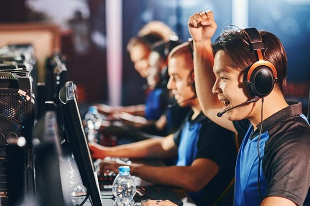 Esports in Vancouver - a professional esports team celebrates a successful play